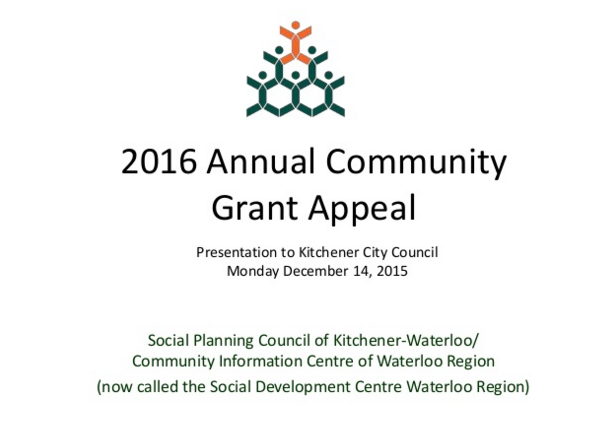 City of Kitchener Appeal Presentation 2015