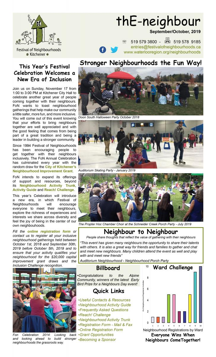 September 2019 E-Neighbour