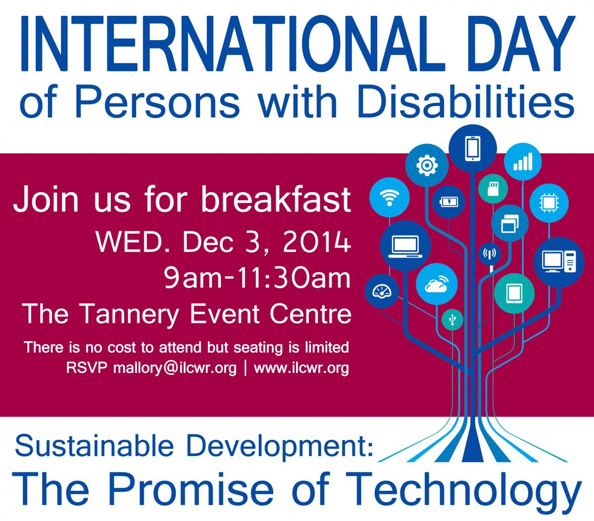 United Nations International Day For Persons With Disabilities December 3 2014 Social